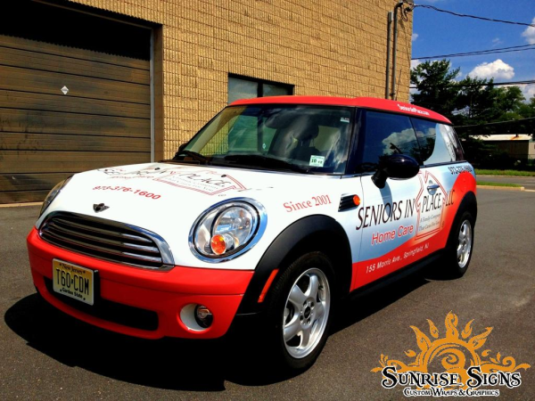 Mini Cooper car wraps advertising