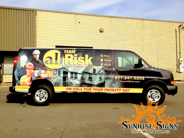 AllRisk Chevy Express Van Wraps Advertising
