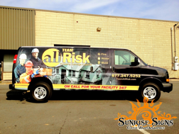 Nationwide Chevy Express van wraps