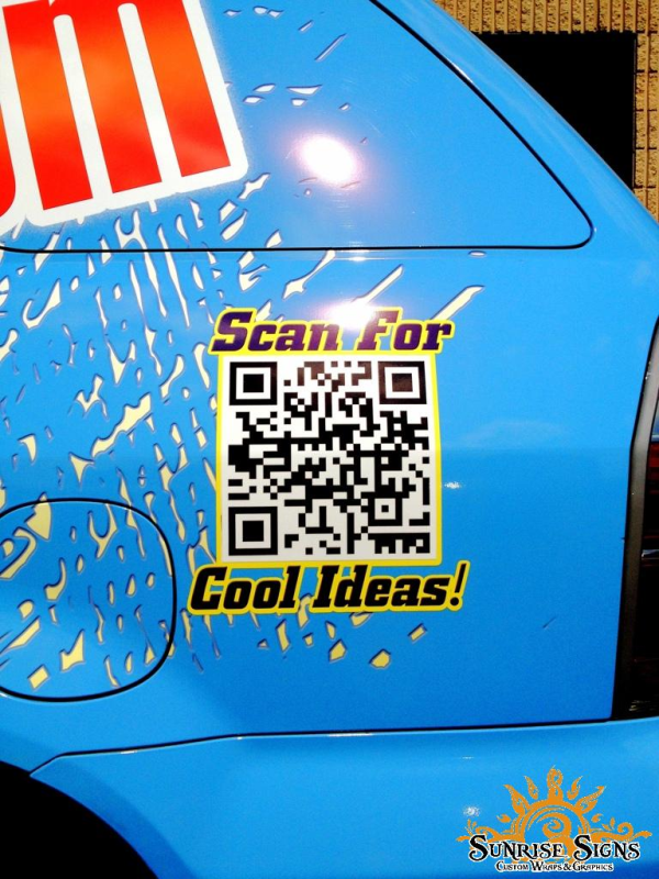 Small business QR codes on auto wraps