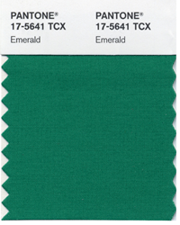 Pantone color guide emerald green color of the year 2013