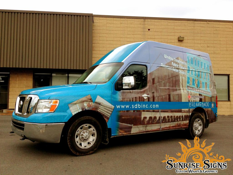 Get a quote on contractor van wraps