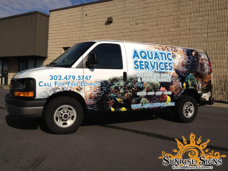 Aquatic Services Chevy Express Van Wraps