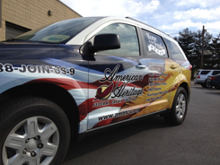 Cool Philadelphia Dodge Journey Wrap for a Credit Union