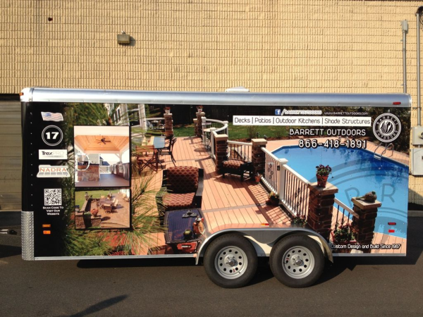 Home design build contractor trailer wraps