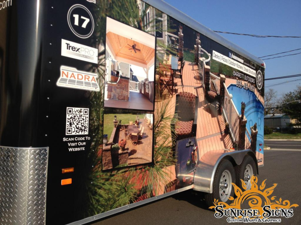 New Jersey home improvement contractor trailer wraps