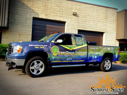 Landacape and snow and ice removal contractor truck wraps