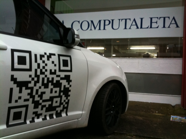QR code vehicle wrap