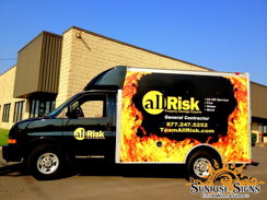 allRisk Restoration company vehicle wraps