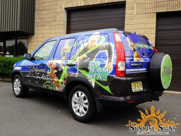 Small business advertising with auto wraps
