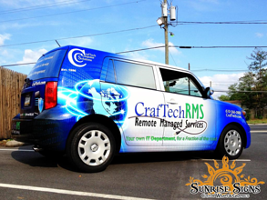 Computer IT contractor vehicle wraps