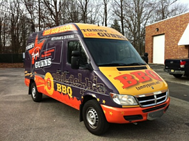 Tommy Gunns Sprinter Van wrap in Philadelphia