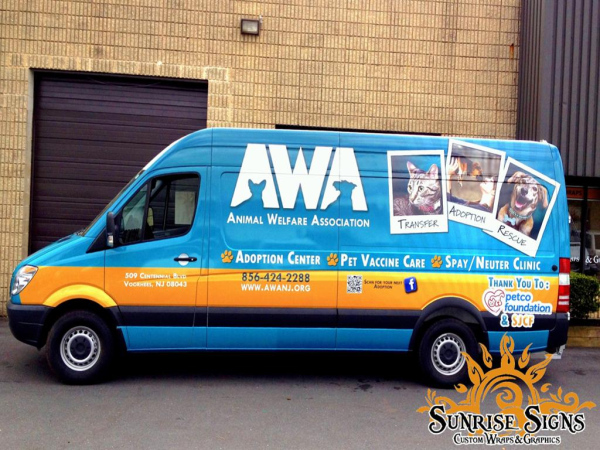Animal Shelter and Rescue Van Wraps