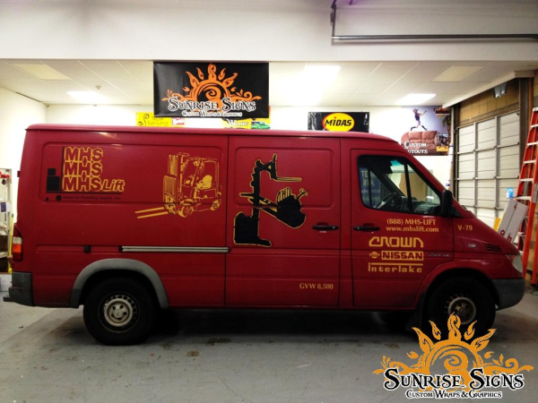 Extreme Makeover Sprinter Van Wraps for MHS
