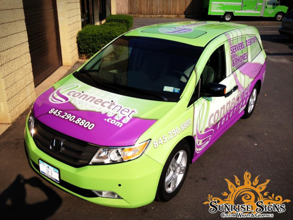connectnet it solutions gets techie with honda odyssey van wraps in rockland county ny. Black Bedroom Furniture Sets. Home Design Ideas