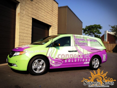 ConnectNet IT Solutions Honda Odyssey van wraps in New York