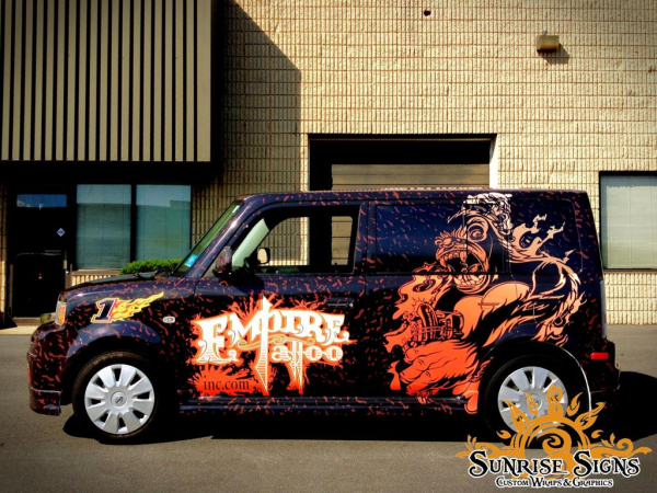 Tattoo and piercing parlor vehicle wraps