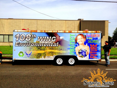 108th Wing Air National Guard Environmental Trailer Wraps