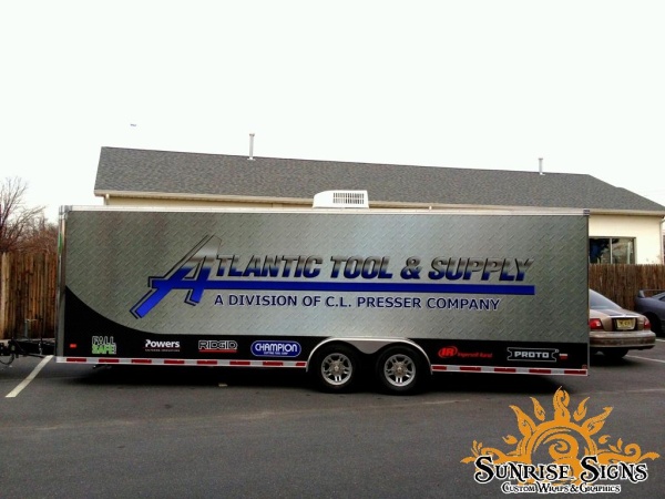 Industrial trailer wraps and graphics