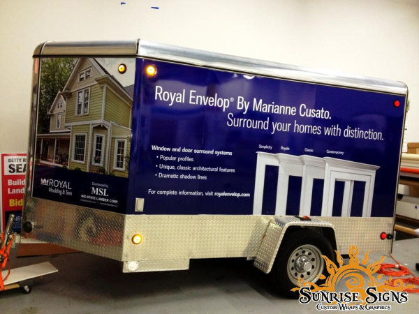 Enclosed trailer wraps in New Jersey