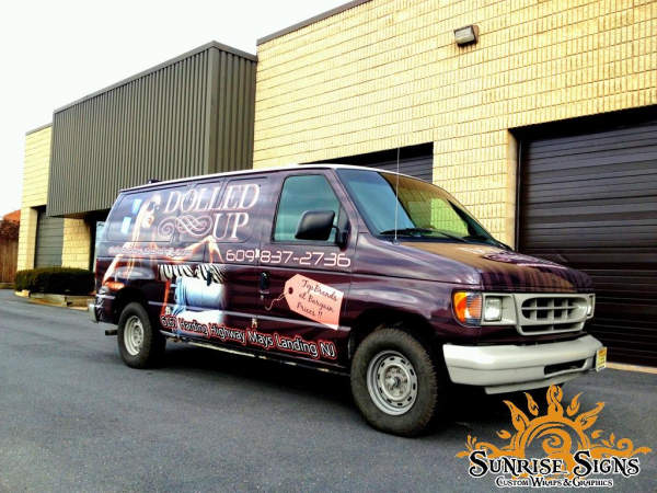 Small business owner van wraps advertising