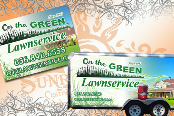 lawn service landscaping yard signs lawn signs
