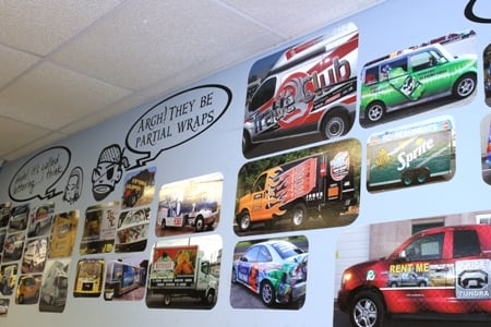 vehicle wrap wall mural