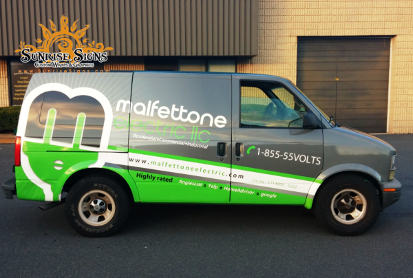 Electrical contractor vinyl vehicle wraps
