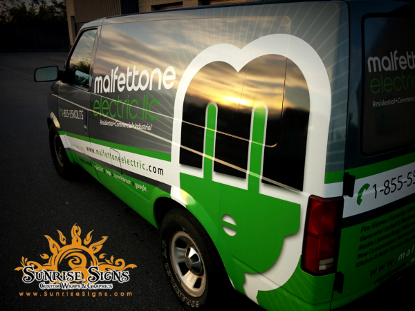 Malfettone Electric Brands With Chevy Van Wraps In Jersey City