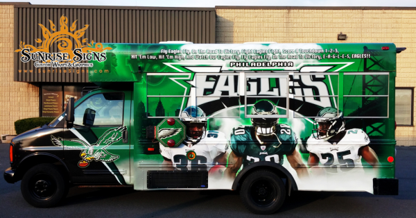 NFL Team shuttle bus wraps