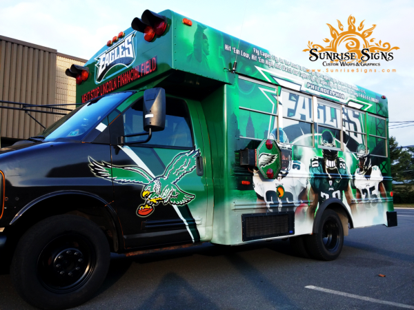 Tailgating bus wraps Philadelphia