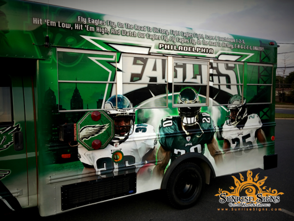 Philadelphia tailgating bus wraps