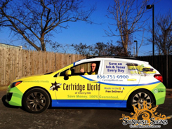 Small business advertising on cars