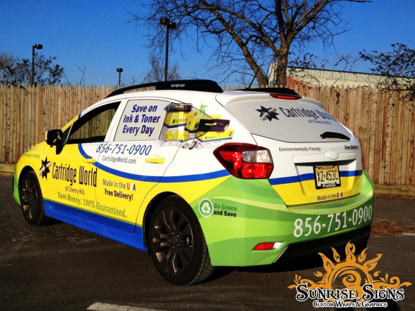 Office Supply Delivery Car Wraps Advertising