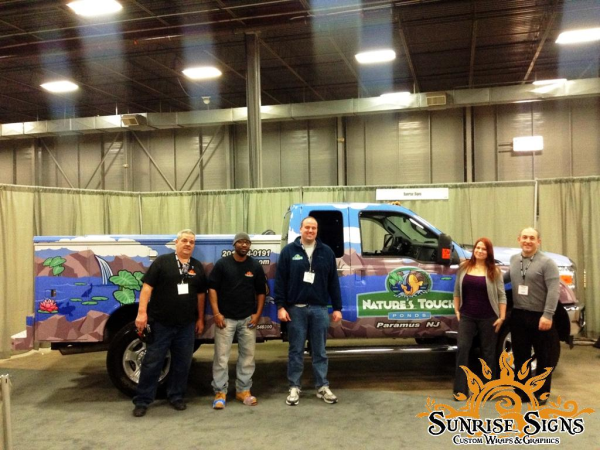Happy truck wraps customer from Sunrise Signs