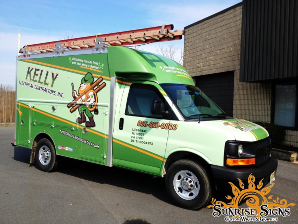 Chevy Spartan van wraps for contractors