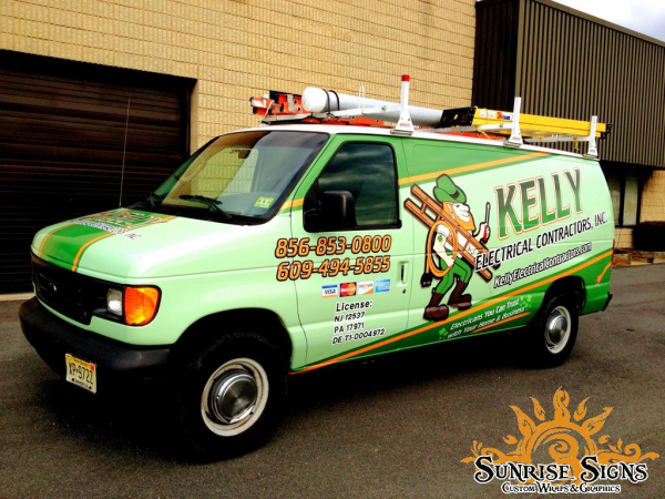 Electrical contractor van wraps