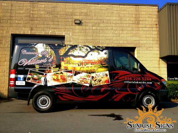 Weddings and banquet catering vehicle wraps