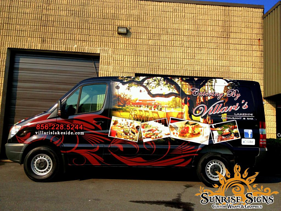 NJ Catering Restaurant Van Wraps