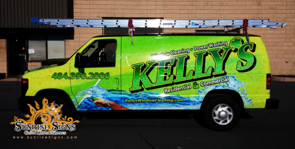 Window cleaning co vehicle wraps