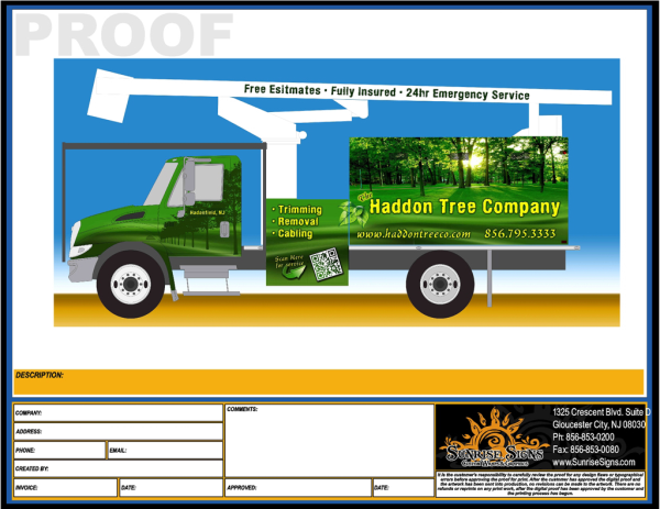 Fleet vehicle wraps for South Jersey Contractors