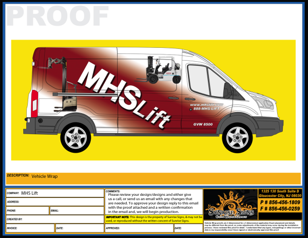 Ford Transit Van Vehicle Wrap Proofs