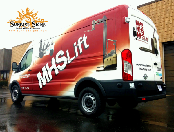Forklift company vehicle wraps