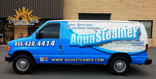 Carpet and Tile Cleaner Van Wraps