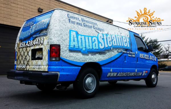 Carpet and Tile Cleaner vehicle wraps