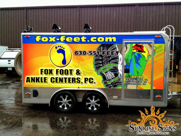 Fox Foot and Ankle Center Enclosed Trailer Wraps