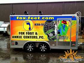 Nationwide Enclosed Trailer Wraps Sunrise Signs