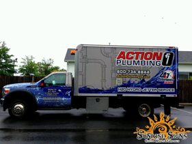 Nationwide plumbing contractor vehicle wraps