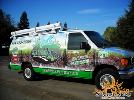 Sprinkler System Contractor Van Wraps