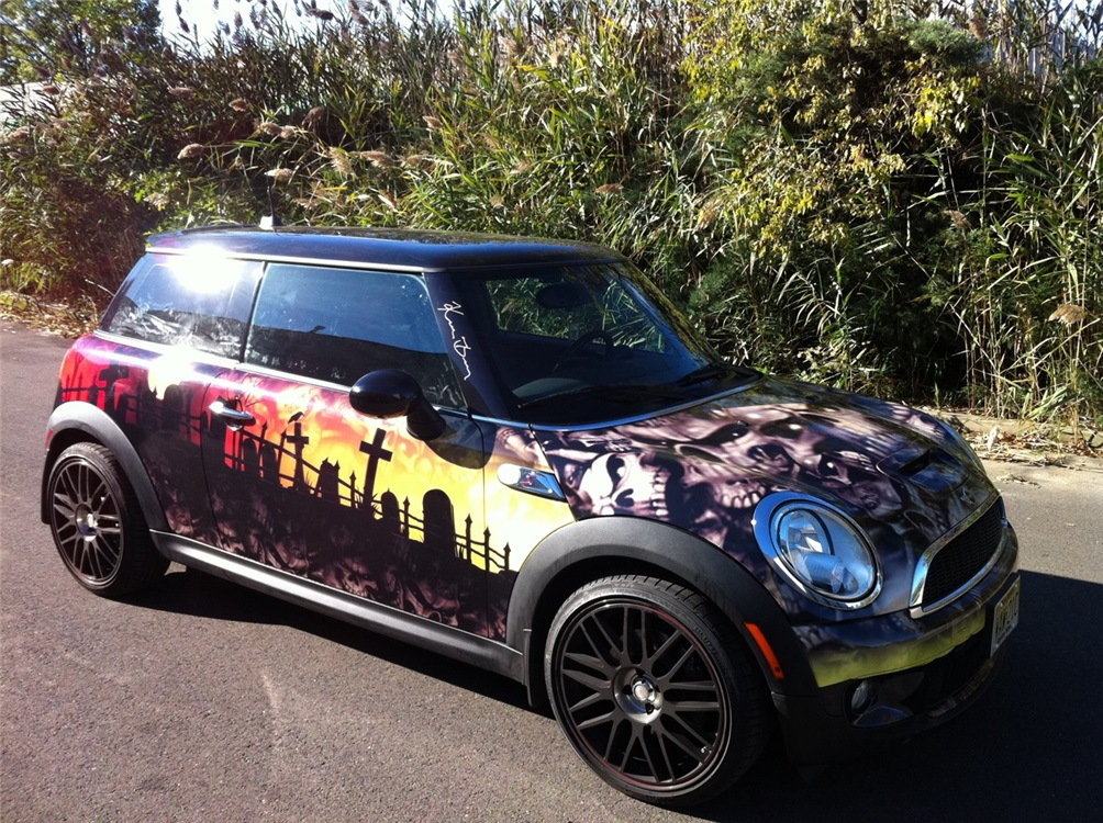 A personal mini cooper full car wrap